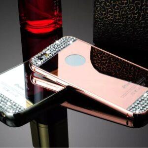 قاب آینه ای نگین دار diamond mirror case | iphone 6 plus
