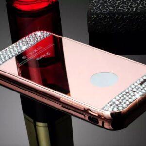 قاب آینه ای نگین دار diamond mirror case | iphone 5