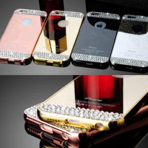 قاب آینه ای نگین دار diamond mirror case | iphone 7