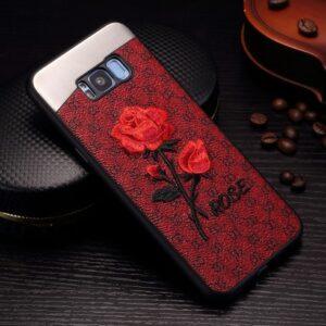 قاب پارچه ای 3D flower case | galaxy s8 plus