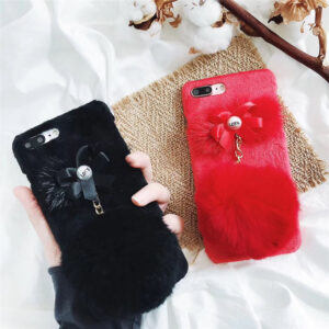 قاب خزدار گوشی KISSACASE fur chain case | iphone 7 plus
