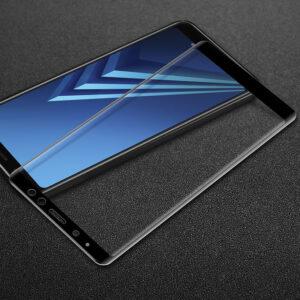 محافظ صفحه نمایش شیشه ای با پوشش قسمت منحنی 3D full glass | Galaxy A8 2018