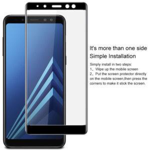 محافظ صفحه نمایش شیشه ای با پوشش منحنی 3D full glass | A8 Plus 2018