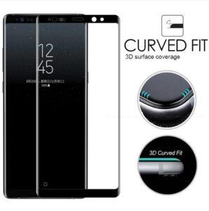 محافظ صفحه نمایش شیشه ای با پوشش منحنی 5D full glass | Samsung Note 8