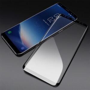محافظ صفحه نمایش شیشه ای با پوشش قسمت منحنی 5D full glass | Samsung S8 Plus