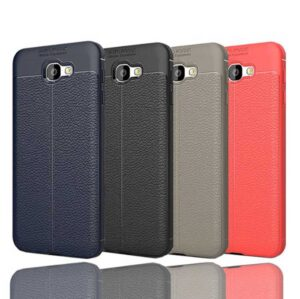 قاب طرح چرم AutoFocus leather case | Galaxy A7 2017