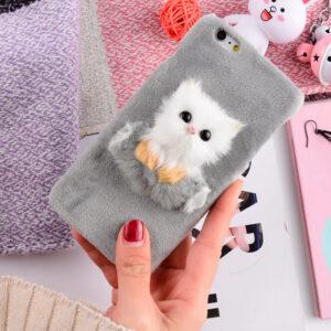 قاب خزدار گوشی KISSACASE fur cat case | iphone 6 Plus