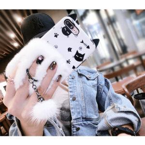 قاب خزدار گوشی TANZ cat ear fur case | iphone 7 Plus