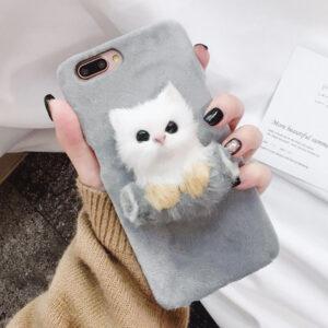 قاب خزدار گوشی KISSACASE fur cat case | iphone 7 Plus
