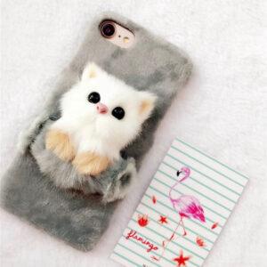 قاب خزدار گوشی KISSACASE fur cat case | iphone 8