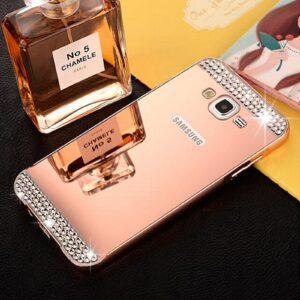 قاب آینه ای نگین دار گوشی diamond mirror case | Samsung j5