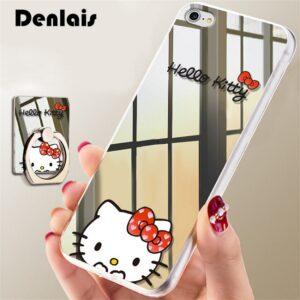 قاب گوشی ژله ای آینه ای Hello Kitty mirror case | iphone 6