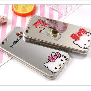قاب گوشی ژله ای آینه ای اپل Hello Kitty mirror case | iphone 6 Plus