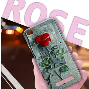 قاب گوشی طرح گل رز شیائومی 3D flower case | Redmi 4a