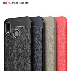 قاب محکم طرح چرم هواوی AutoFocus leather case P20 lite | Nova 3e