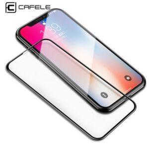 محافظ صفحه نمایش رنگی نانو فول سایز اپل CAFELE Nano glass | iphone x