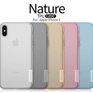 کاور ژله ای انعطاف پذیر نیلکین Nature Transparent Clear Nillkin protector | iphone x
