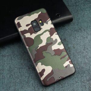 قاب طرح چریک ارتشی سامسونگ Lack camouflage Army case | Galaxy S9