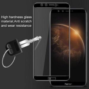 محافظ صفحه نمایش شیشه ای دور چسب با پوشش منحنی full Cover glass | Honor 9 lite
