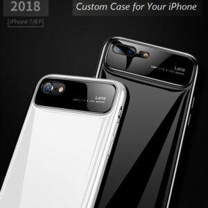 قاب محافظ شیشه ای گوشی اپل Bakeey Glass Lens Hard PC Protective Case | iphone 8