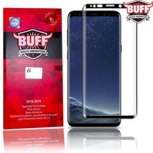 محافظ صفحه نمایش رنگی نانو تمام چسب سامسونگ BUFF Nano full cover glass | S9 Plus