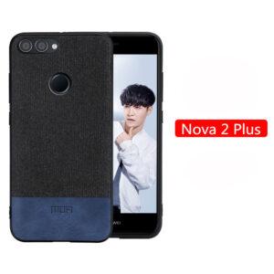 قاب طرح کتان گوشی هواوی MOFI Soft TPU Cotton Case | Nova 2 Plus