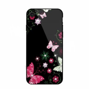 قاب محکم طرح گل براق اپل TPU + Glass NXE Case | iphone 8
