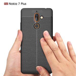 قاب محکم طرح چرم گوشی نوکیا Auto Focus case | Nokia 7 Plus