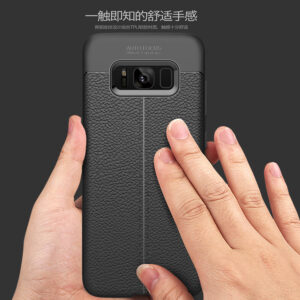 قاب محکم طرح چرم گوشی سامسونگ گلکسی Auto Focus Leather case | Galaxy S8