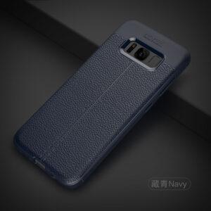 قاب محکم طرح چرم گوشی سامسونگ گلکسی Auto Focus case | Galaxy S8 Plus