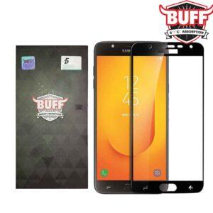 محافظ نانو تمام چسب خمیده سامسونگ BUFF Full Glass | Galaxy j7 Duo