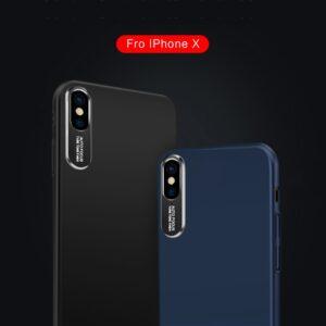قاب محافظ فلزی آیفون Auto Focus Metal Brush Camera Case | iphone X