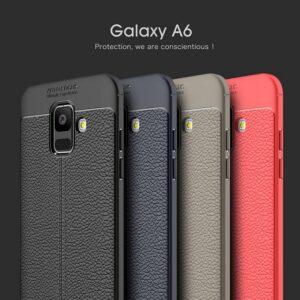 قاب طرح چرم سامسونگ Auto Focus Leather Case | Galaxy A6 2018