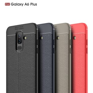 قاب محافظ سامسونگ Auto Focus Leather Case | Galaxy A6 Plus 2018