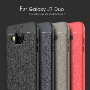 قاب طرح چرم سامسونگ Auto Focus Leather Case | Galaxy j7 Duo