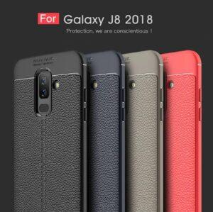 قاب طرح چرم سامسونگ Auto Focus Leather Case | Galaxy j8 2018