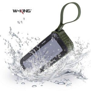اسپیکر بلوتوث ضد آب دبلیو کینگ W-King Bluetooth Speaker | S20
