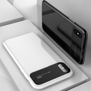 قاب محافظ شیشه ای اپل Bakeey Glass Lens Hard Case | iphone XS