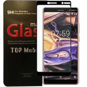 محافظ صفحه شیشه ای تمام چسب نوکیا Elk Full Glass | Nokia 7 Plus