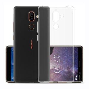 قاب ژله ای شفاف نوکیا USAMS transparent case | Nokia 7 Plus