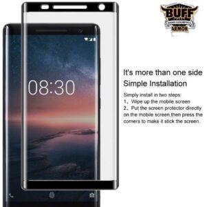 محافظ نانو تمام چسب نوکیا BUFF Glass | Nokia 8 Sirocco