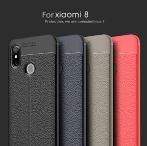 قاب محافظ طرح چرمی شیائومی Auto Focus Case | Xiaomi Mi 8
