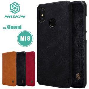 کیف چرمی نیلکین شیائومی Nillkin Qin Series Wallet Cover | Xiaomi Mi 8