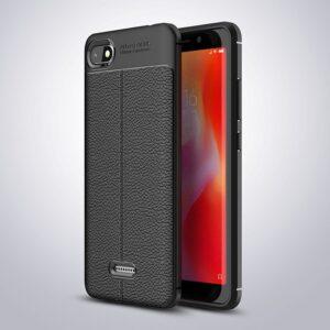 قاب طرح چرم شیائومی Auto Focus Leather Case | Xiaomi Redmi 6a