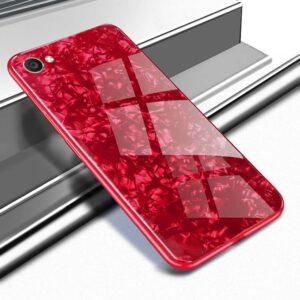 قاب محافظ شیشه ای طرح دار آیفون Makavo Glass Marble Case | iphone 7