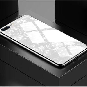 قاب محافظ طرح دار براق اپل Makavo Glass Marble Case | iphone 7 Plus