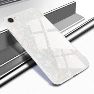 قاب شیشه ای طرح دار اپل Makavo Glass Marble Case | iphone 8