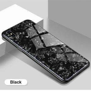 قاب شیشه ای طرح دار اپل Makavo Glass Marble Case | iphone X