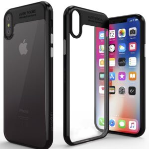قاب محافظ اپل Auto Focus Tpu + Transparent PC Case | iphone XS Max