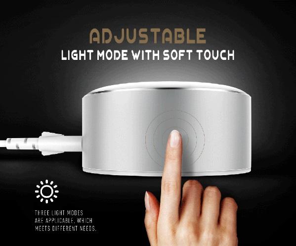 لامپ ال ای دی و شارژ LDNIO LED Power Touch Lamp and Charger A2208